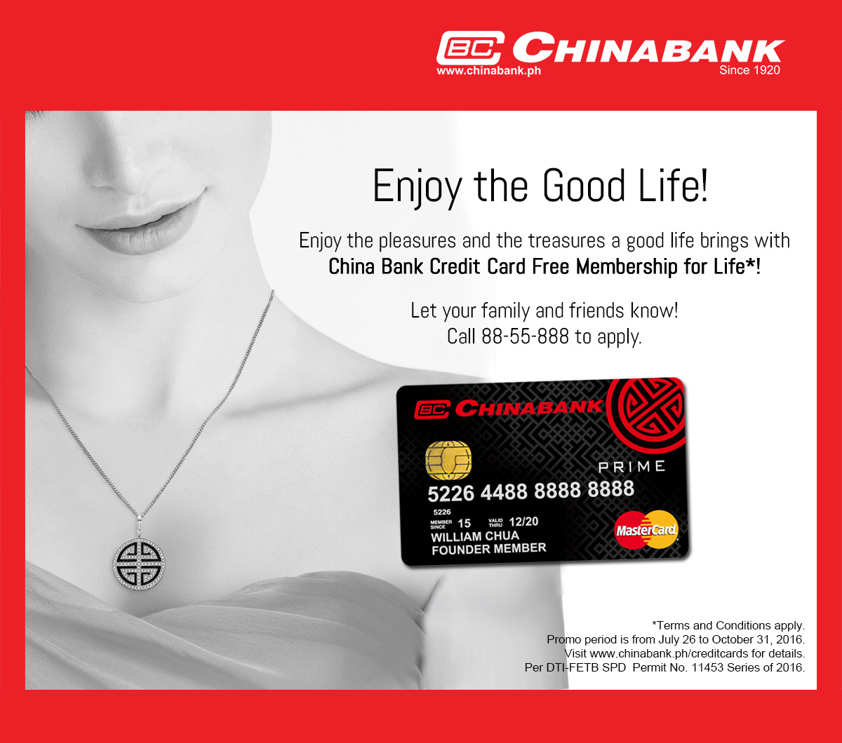Enjoy The Good Life With China Bank Credit Card Free. Mba In Information Technology. Caribbean Medical School Cost. Best Ground Source Heat Pump. Aesthetic Surgery Center Day Care Bellevue Wa. Medical Assistant Responsibilities. Auto Body Repair Boulder Business Dsl Pricing. Courses In Library Science Quick Sale Houses. Draegers Cooking School Charter Flights Omaha