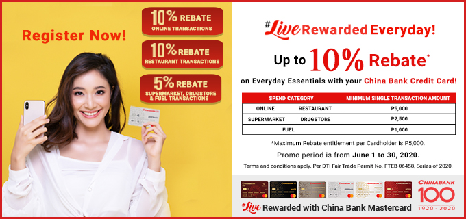 LiveRewarded Everyday with China Bank Credit Card - (CBC) China Banking Corporation - Credit Cards